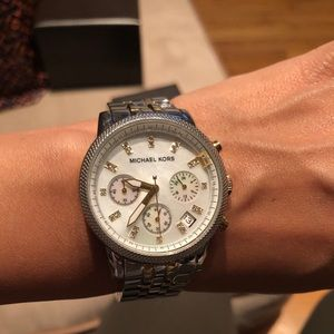 Michael Kora watch.  Mother of pearl